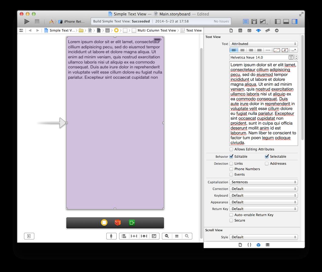 UITextView in Interface Builder